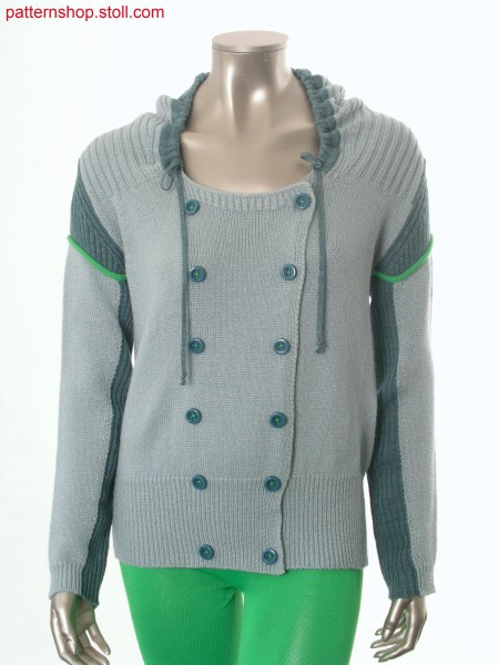 Fully Fashion hooded cardigan in caban-style / Fully Fashion Kapuzen-Strickjacke im Caban-Stil