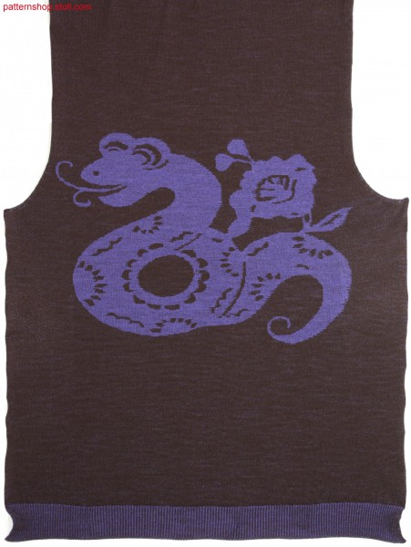Fully Fashion front with inverse plated snake motif / Fully Fashion Vorderteil mit wendeplattiertem Schlangenmotiv