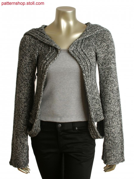 Fully Fashion cardigan with goring naps and integral button hole