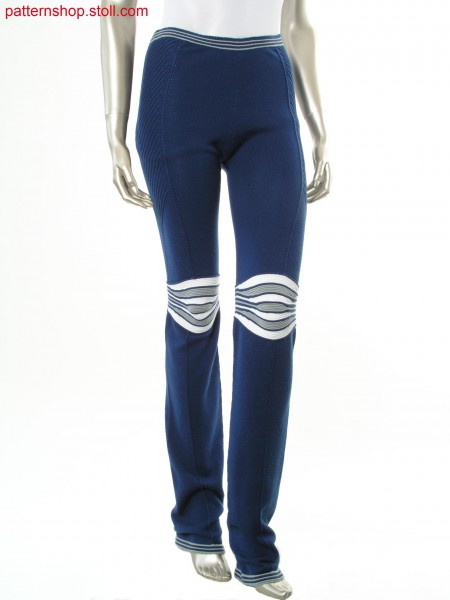 Jersey trousers with gored and ringed waves / Rechts-Links Hose mit gespickelten und geringelten Wellen