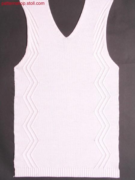 Fully fashion front piece with 2x1 aran / Fully Fashion Vorderteil mit 2x1 Aran