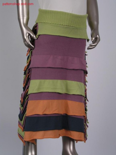 Children's jersey skirt with applications / Rechts-Links Kinderrock mit Applikationen