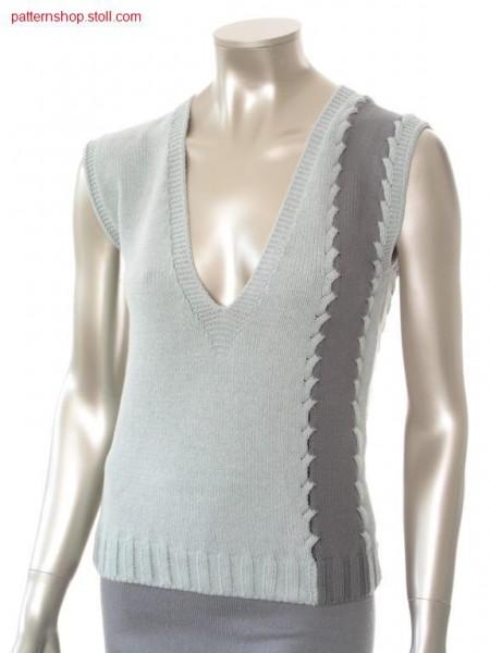 FF-Intarsia top, knitted in one piece / FF-Intarsia Top, in einem Teil gestrickt