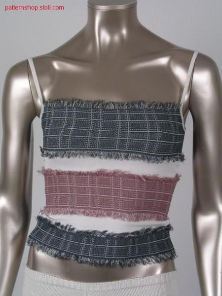 Jacquard-intarsia jeans top / Jacquard-Intarsia Jeanstop