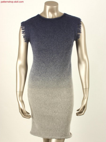 Jersey dress with French shoulder / Rechts-Links Kleid mitfranz