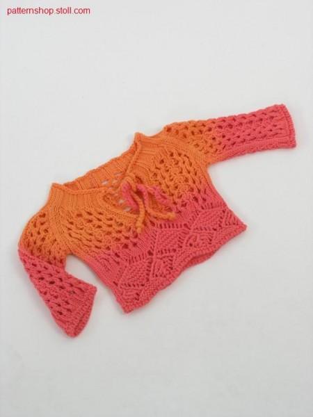 Baby's raglan pullover in tie-dye-technique / Babyraglanpullover in Bandana-Technik