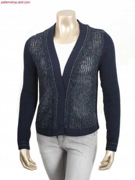 Fully Fashion cardigan in plated 1x1 pointelle structure /Fully Fashion Strickjacke in plattierter 1x1 Petinetstruktur