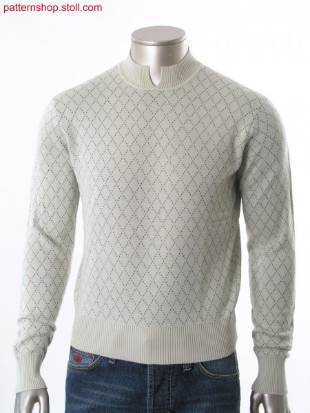 Fully Fashion pullover with stand up split collar and layer technique with crossed connection