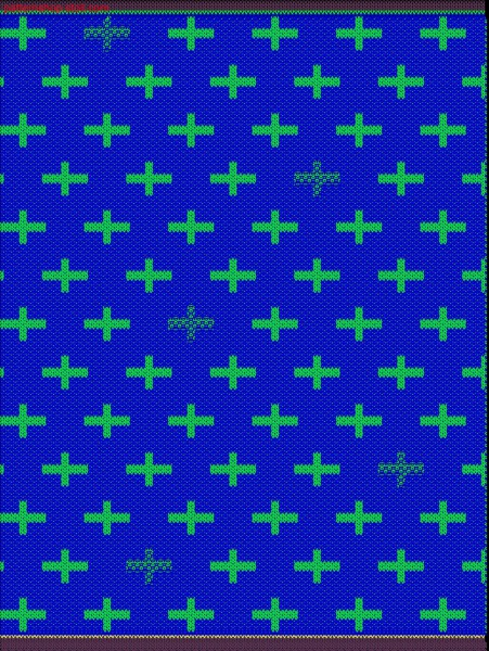 Swatch with 2-colored twill relief jacquard / Musterabschnitt mit 2-farbigem Reliefjacquard mit K