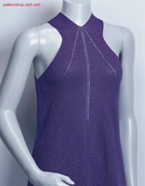 F-F- Dress in R:R with fashioning lines / F-F- Kleid in R:R  mit Minderlinien