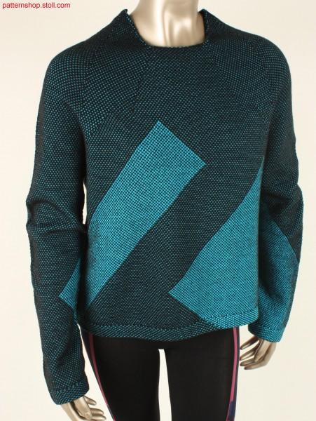 Seamless boxy sweater / Nahtloser kastenförmiger Pullover