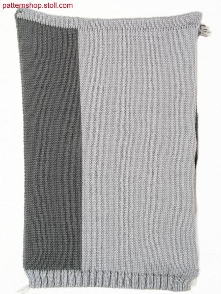 Three layer fabric (cross tubular) in 1x1 technique / Dreilagiges Gestrick (Kreuzschlauch) in 1x1 Technik
