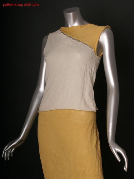 Fully Fashion jersey top with side vents / Fully Fashion Rechts-Links Top mit Seitenschlitzen