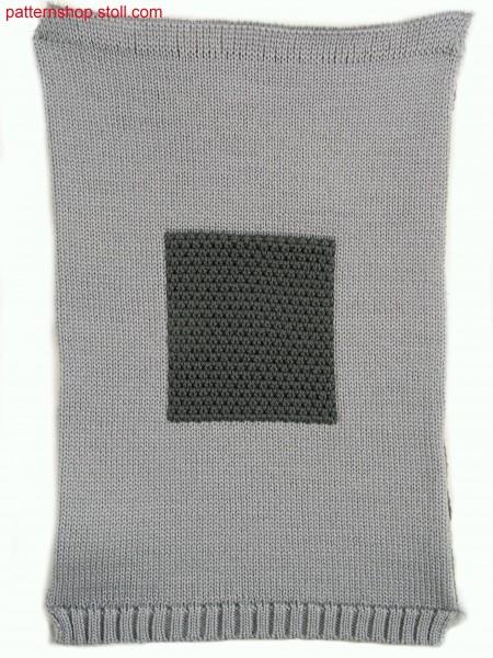 Two layer fabric (cross tubular) in 1x1 technique / Zweilagiges Gestrick (Kreuzschlauch) in 1x1 Technik