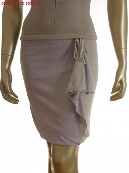 Fully Fashion cross tubular skirt in 2 colors