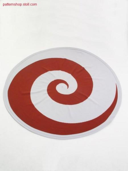Jersey pillowcase with spiral motive / Rechts-Links Kissenbezug mit Spiralmotiv