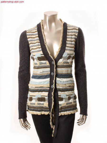 Striped Fully Fashion cardigan with cloqu