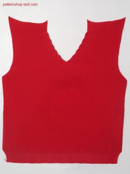 Fully fashion front piece in 1x1 half cardigan / Fully Fashion Vorderteil in 1x1 Perlfang