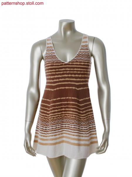 Fully Fashion dress in 3 color stripes with float structure