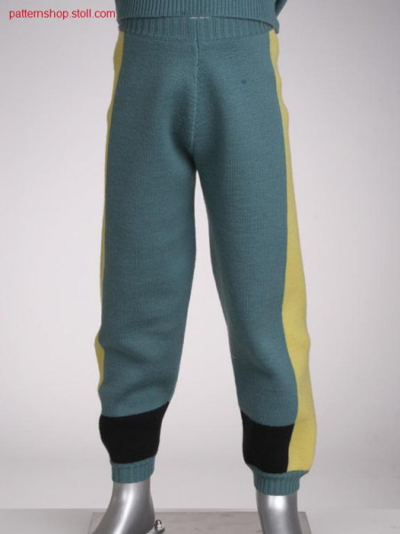 Fully fashion intarsia children's trousers in half tubular /Fully Fashion Intarsia Kinderhose in Halbschlauch