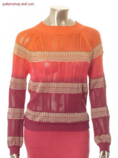 Ringed raglan pullover in tie-dye-technique / Geringelter Raglanpullover in Bandana-Technik