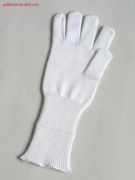 Jersey glove, right / Rechts-Links Fingerhandschuh, rechts