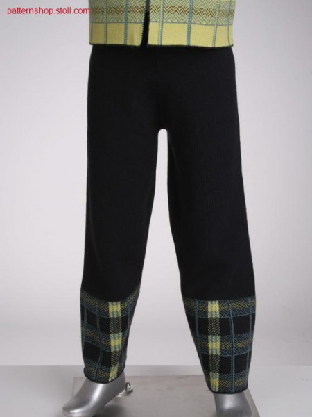 Fully fashion children's trousers in 1x1 half-cardigan / Fully Fashion Kinderhose in 1x1 Perlfang