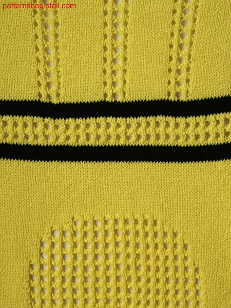 2-colored structure with stripes and pointelle