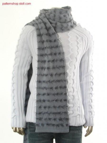 Ringed scarf in tubular / Geringelter Schal in Schlauch