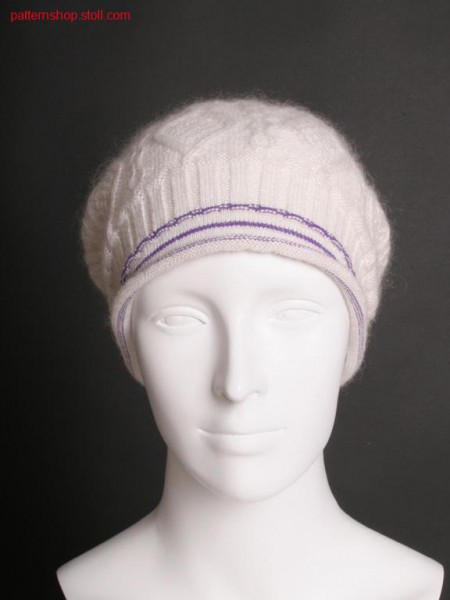 Fully Fashion cap with aran pattern / Fully Fashion M