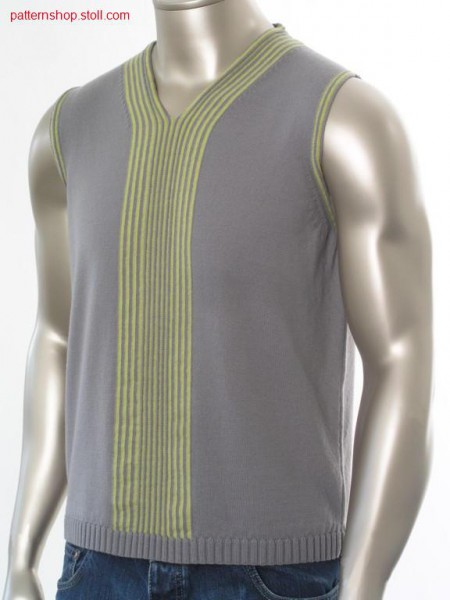 FF-Intarsia jersey slipover / FF-Intarsia Rechts-Links Pullunder