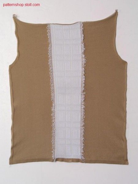 FF-jacquard-intarsia front with fringes / FF-Jacquard-Intarsia Vorderteil mit Fransen