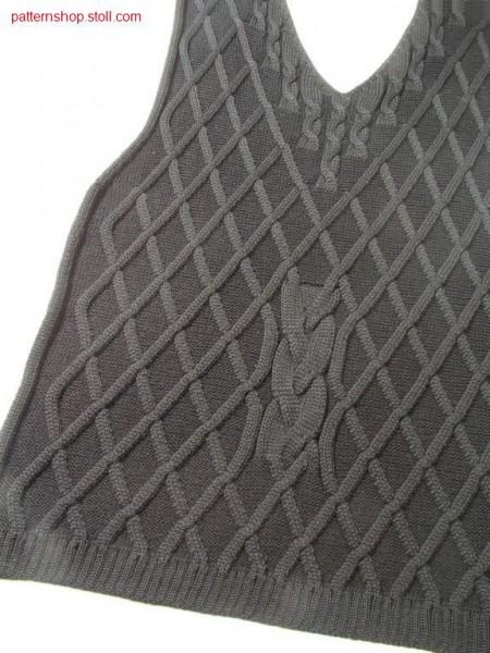 Fully fashion front piece with 3x1 aran / Fully Fashion Vorderteil mit 3x1 Aran
