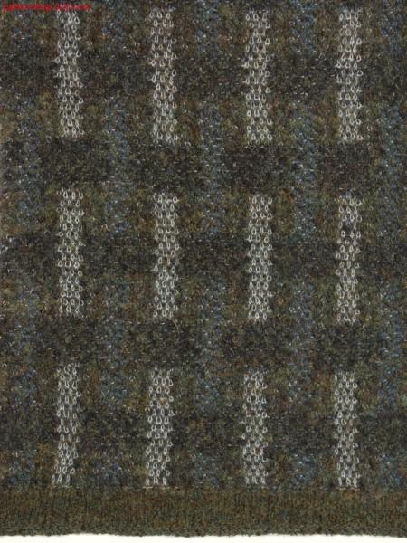 Swatch with horizontal and vertical stripes / Musterteil mit Quer-und L