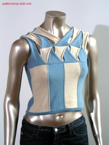 FF-Intarsia jersey top in plait optics / FF-Intarsia Rechts-Links Top in Flechtoptik