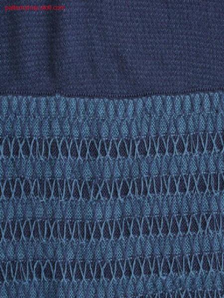Skirt in tuck structure with ornamental stitch border / Rockin Fangstruktur mit Zierstichbord