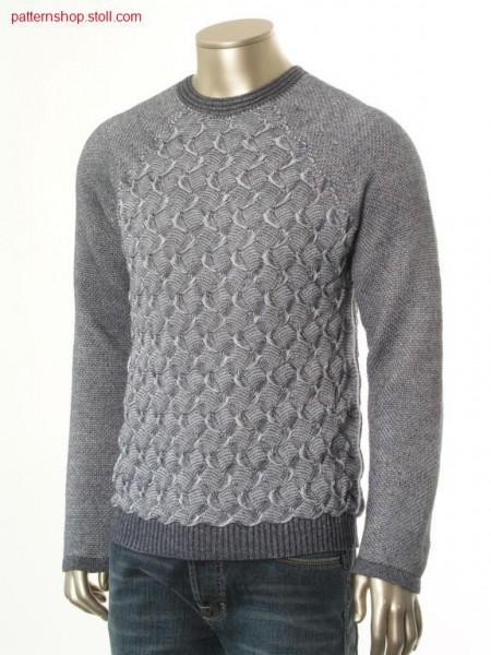 Ringed FF-raglan pullover / Geringelter FF-Raglanpullover
