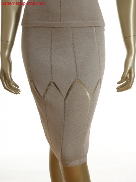 Fully Fashion skirt with float lines in cross tubular