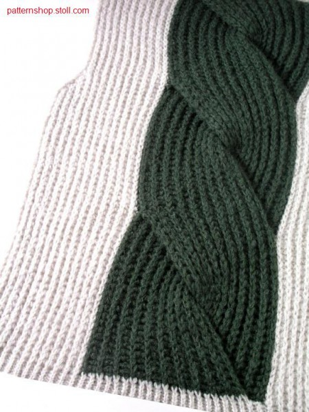 half cardigan Intarsiacable/Perlfang Intarsiazopf