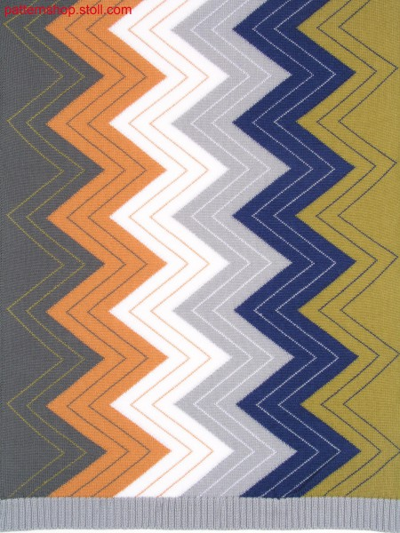 Zigzag-intarsia pattern / Zickzack-Intarsiamuster