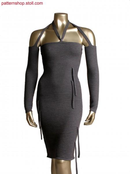 Fully Fashion dress in 1x1 technique, purl stripes