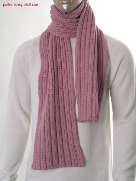 Scarf with 2x1 cables in 1x1 cast off technique / Schal mit 2x1 Z