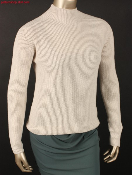 Half-cardigan women's pullover / Perlfang Damen-Pullover