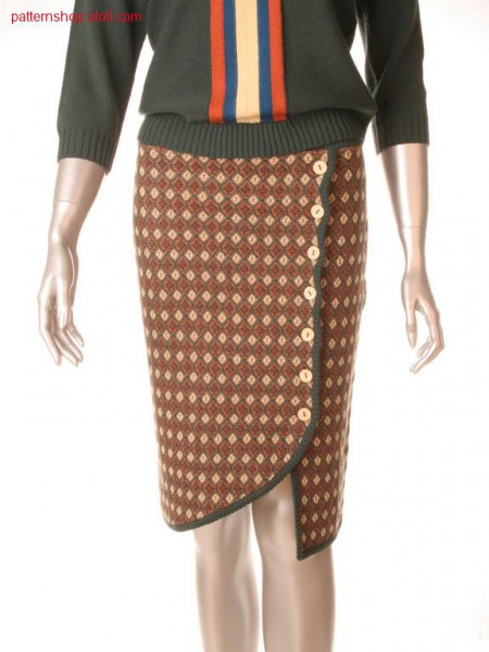 Fully Fashion skirt in 3-colour relief jacquard / Fully Fashion Rock in 3-farbigem Reliefjacquard