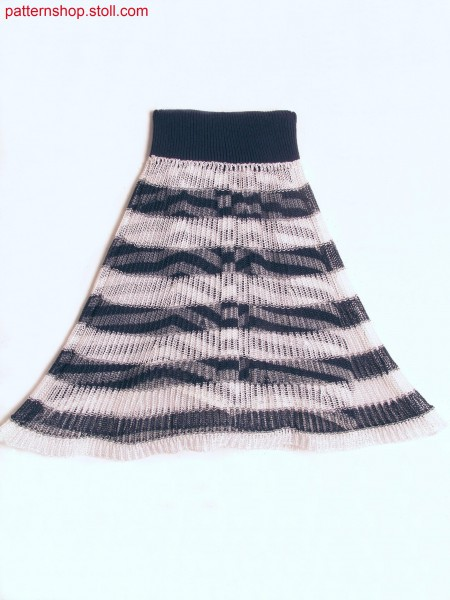 Hooped miniature skirt in layering-look / Geringelter Miniaturrock im Lagen-Look