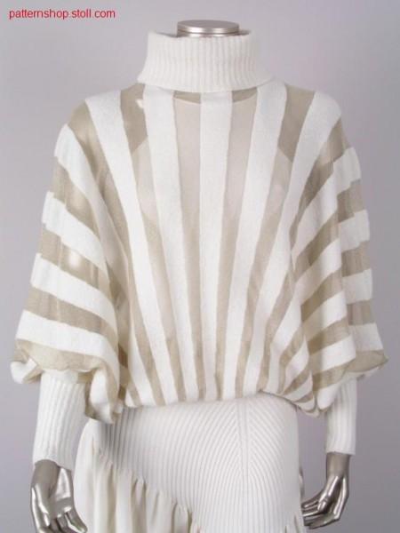 Jersey kimono pullover in gore technique / Rechts-Links Kimonopullover in Spickeltechnik