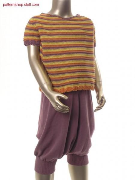 Children's pullover with inserted short sleeves / Kinderpullover mit eingesetzten kurzen