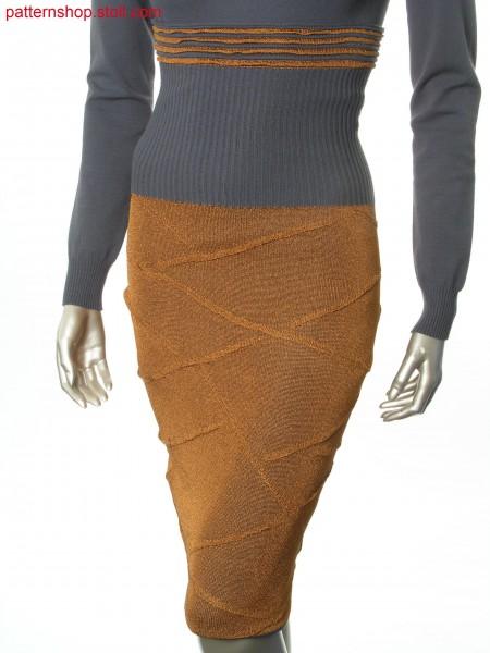 Skirt in layering-look with wave motif / Rock im Lagen-Look mit Wellenmotiv