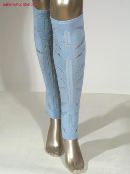 Leg gauntlets with float thread structures / Beinstulpen mit Flottfadenstrukturen