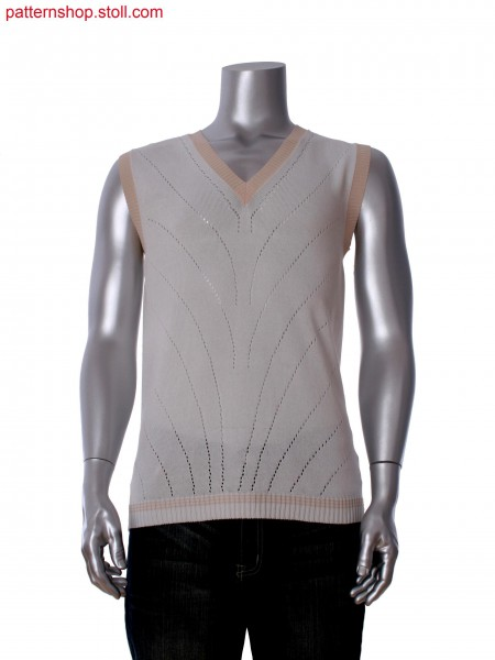 Stoll-knit and wear&reg sleeveless pullover with pointelle structure